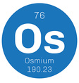 Osmium chemical element vector image