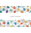 easter egg seamless composition in doodle style vector image