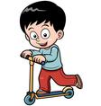 Little boy skateboarding vector image