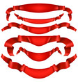 realistic red decorative ribbon eps 10 vector image