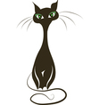 Black cat silhouette for your design vector image