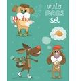 winter dog vector image