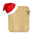 Retro Banner With Cap Of Santa Claus vector image