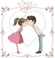 Couple Kissing Cartoon vector image