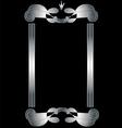 Elegant metallic frame vector image