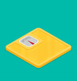 bathroom scale flat design icon vector image