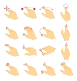 Gestures icons for touch devices vector image