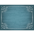 vintage frame on a blue background vector image