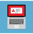 Warning on the laptop screen vector image