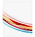 Smooth silk wave template vector image