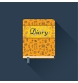Flat diary with a pattern vector image