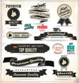 Quality Vintage style labels vector image