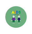 icon on circle various symptoms of aids vector image