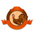 Thanksgiving Turkey Cartoon Character vector image
