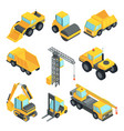 3d transport for construction industry vector image