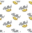 hello pattern vector image vector image