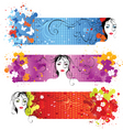 face banners vector image vector image