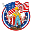 American Worker Labor Day vector image