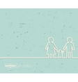 Creative family Art template vector image