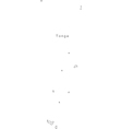 Black White Tonga Outline Map vector image vector image