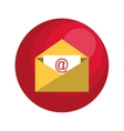 envelope email with arroba symbol vector image
