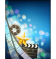 filmstrip background vector image