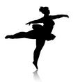 overweight ballerina silhouette vector image