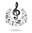 background with music note vector image
