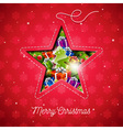 Merry Christmas with holiday elements vector image vector image