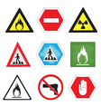 Various warning signs vector image vector image