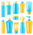 sunscreen cosmetics vector image