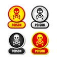 Poison icons vector image vector image