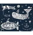 Set of nautical elements on blackboard vector image
