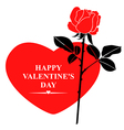 valentine rose red vector image vector image