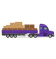 semi truck trailer concept 01 vector image
