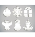 Christmas icon cut from paper Isolated on gray vector image