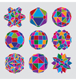 Collection of complex dimensional spheres and vector image