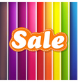 Colorful Background With Sale Text vector image