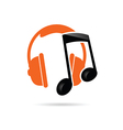headphone music color vector image