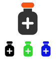 medication vial flat icon vector image