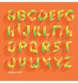 Origami Orange Flat Font vector image