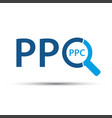 pay per click icon simple ppc symbol vector image