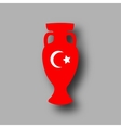 sport competition cup Turkey participant vector image