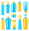 sunscreen cosmetics vector image
