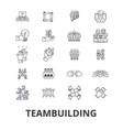 teambuilding community teamwork leadership vector image