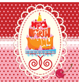 Cake Formed From Happy Birthday Text - card vector image vector image