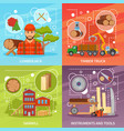 sawmill timber compositions set vector image