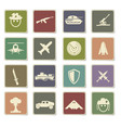 war symbols icon set vector image