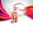 New Year 2014 colorful celebration background vector image vector image