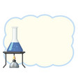 border template with blue liquid in beaker vector image vector image
